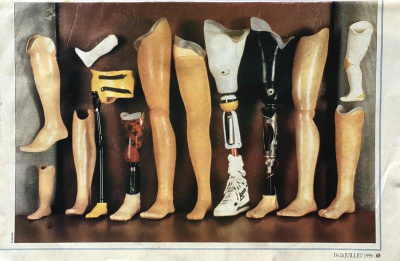 41a. Nouvelles matières pour prothèses. Le Nouvel Observateur. 18-24 juillet 1996. @Cosmos. IMG_4937_1024