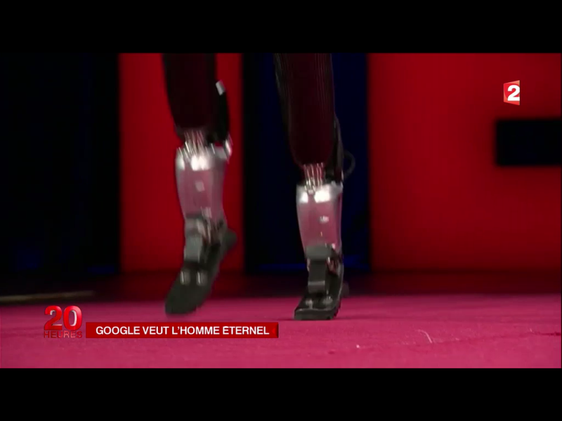 44h. jambes d'acier google. Le Journal de 20h. France 2