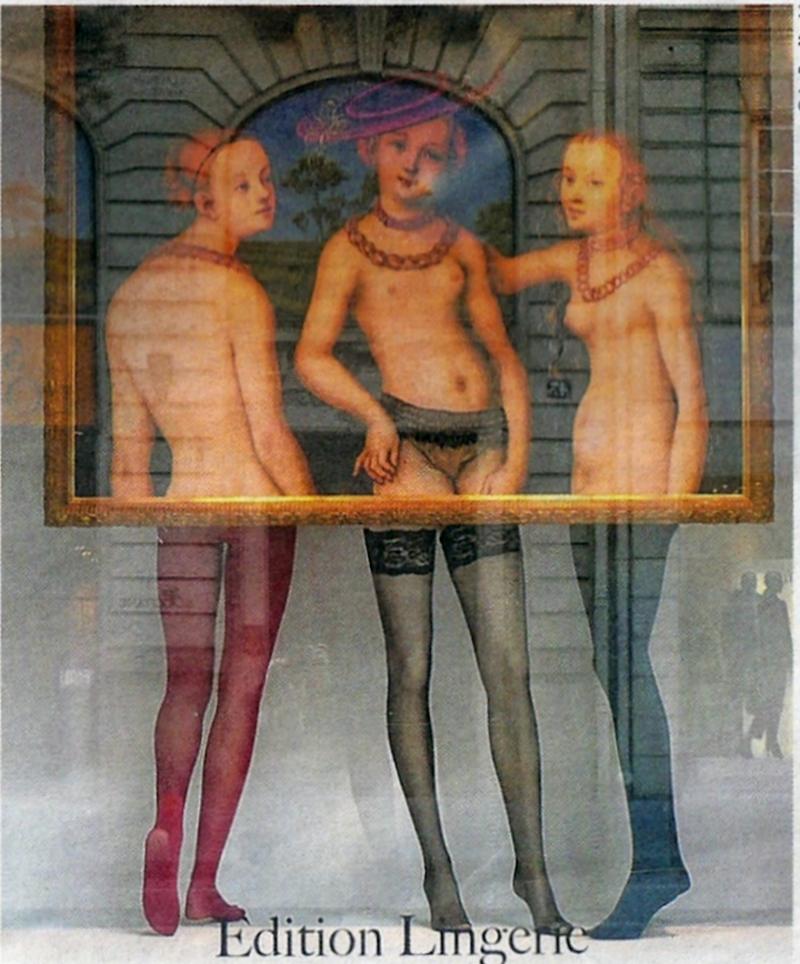 25c*. %22Une vitrine en clin d'oeil au tableau %22Les trois Grâces%22 de Lucas Cranach%22.@Le Bon Marché. png