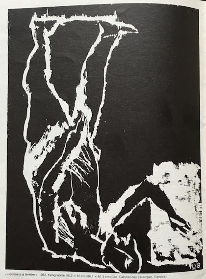 1982. Homme à la fenêtre. Baselitz Xylographie 1982 (cabinet des estampes Genève). Art Press Avril 1985. . IMG_4449_1024