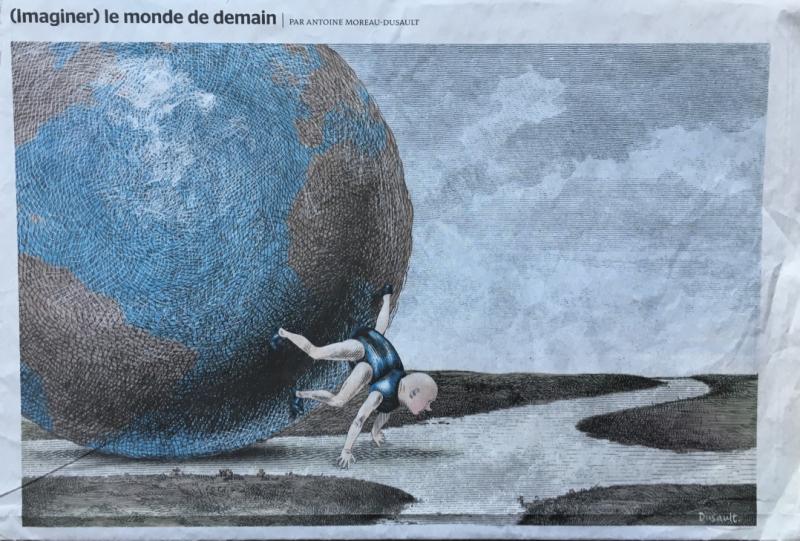 21m. %22Imaginer le monde de demain%22. Le Monde 31 juillet 2015.@ Antoine Moreau-Dusault. IMG_3368_1024