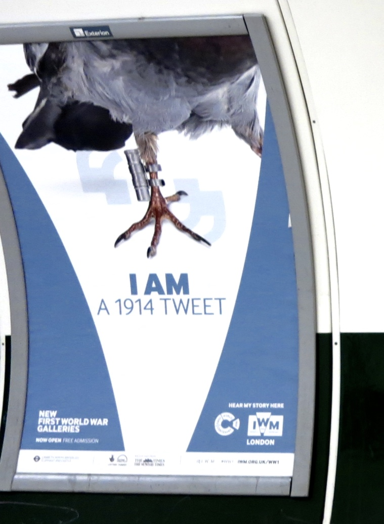 32o. I am a 1914 tweet. A l'occasion de l'ouverture de new First World War Galleries. Métro de Londres @mtw_1024