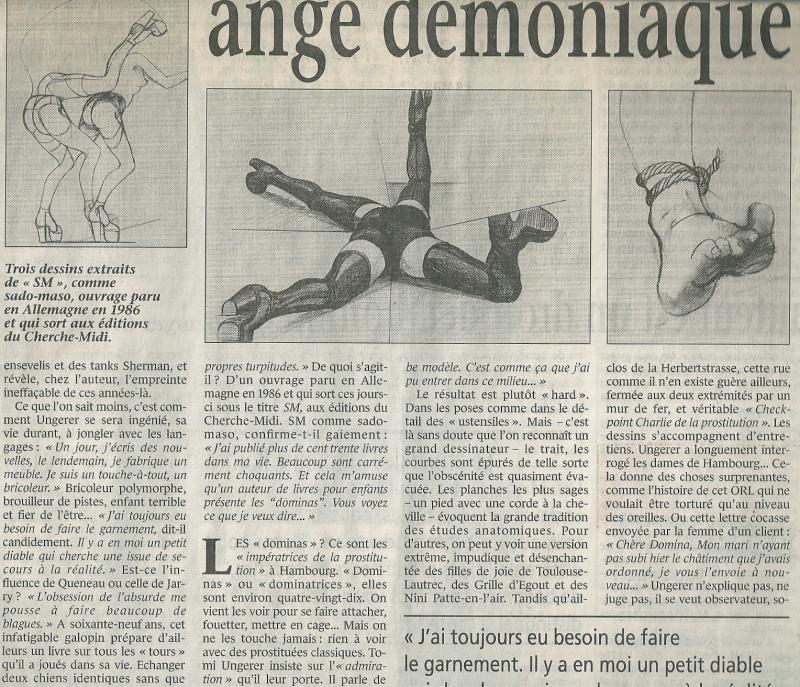 34g. Saint Tomi ange démoniaque. Le Monde samedi 18 mars 2000. @Guillaume de Laubier