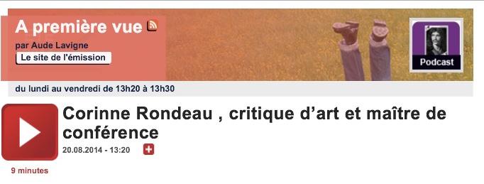 22h. A première vue et son logo. France Culture. 20.8.2014 _1024